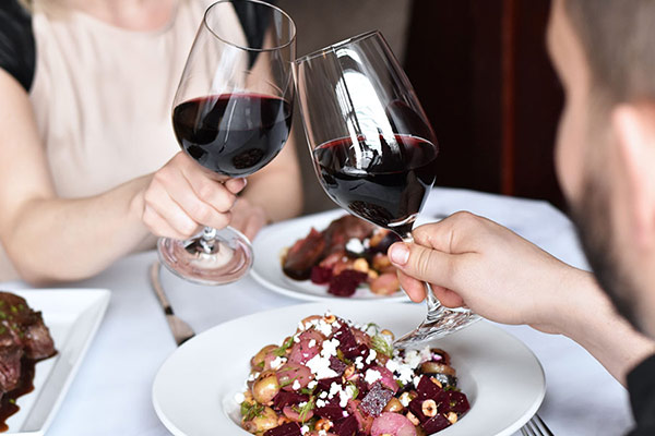 valentine's dinners at Calgary restaurants, wine