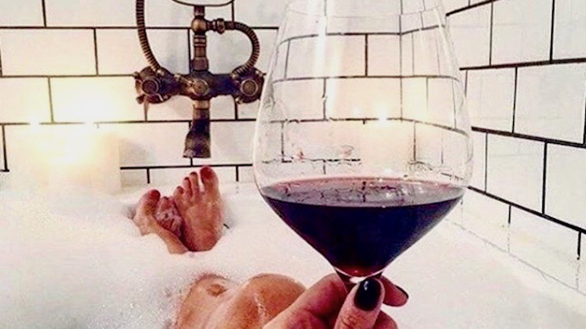 unwind with the best wines for bubble baths, tub soak,