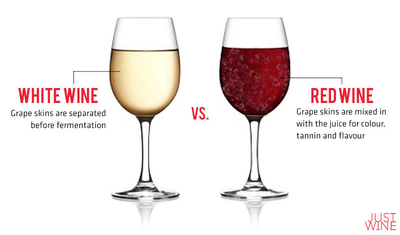 wine wine vs red wine, what's the difference?
