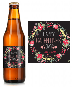 valentines beer label