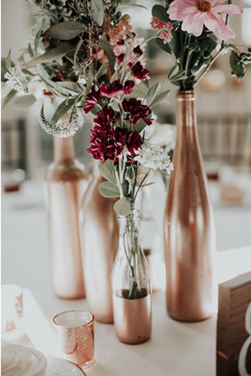 8 Wedding Wine Bottle Centrepiece Decor Ideas | Just Wine