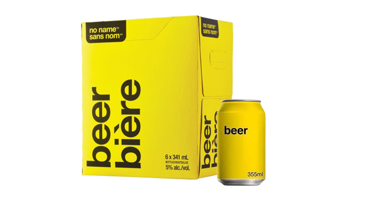 Loblaw Companies Launches Official No Name Beer (& It's Insanely Cheap)