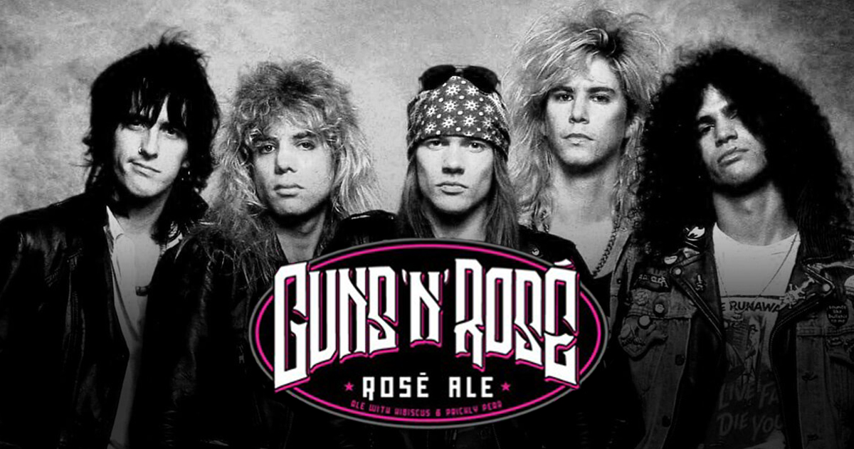 Guns N' Roses is Suing Oskar Blues Brewery for Guns 'N' Rosé Ale