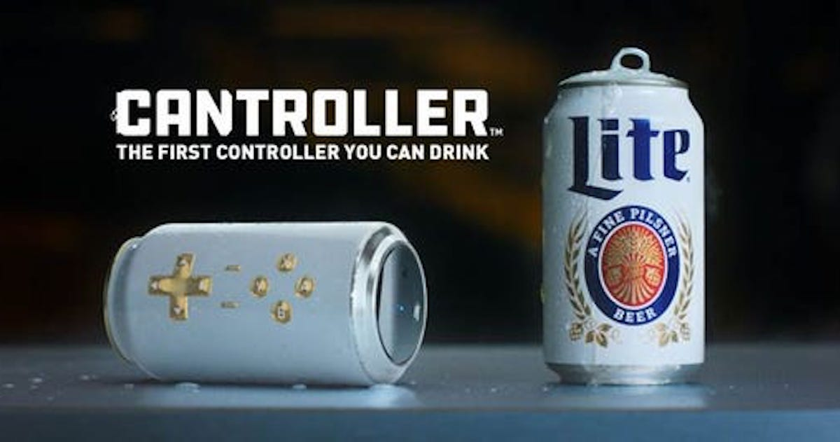 Introducing The Miller Lite Cantroller: A Beer Can Video Game Controller