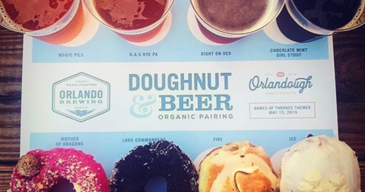 This Orlando Brewery is Hosting a Donut and Beer Pairing Night Every Month