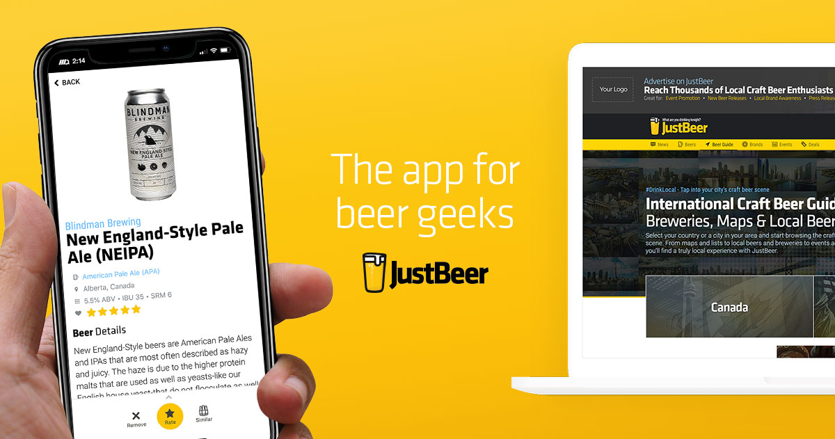 Official JustBeer Social Media Channels
