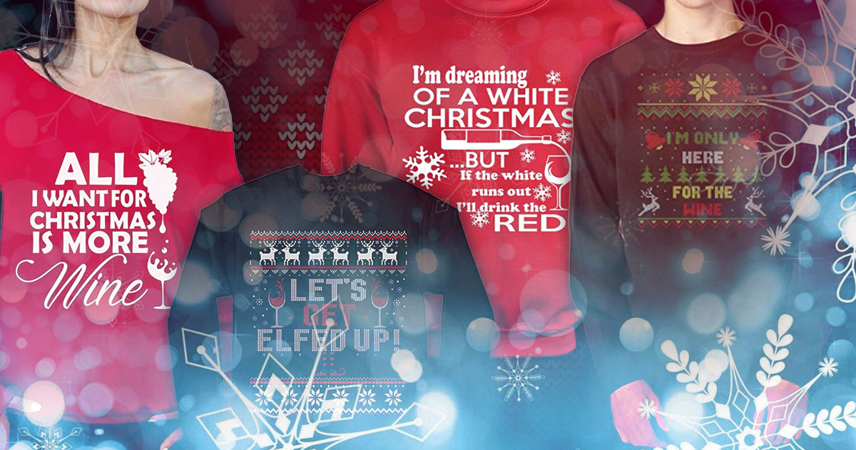 8 Wine Themed Ugly Christmas Sweaters You Need Thi | Just